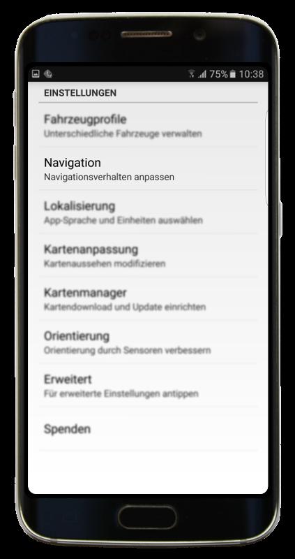 Navigator 2.2 - Einstellungen