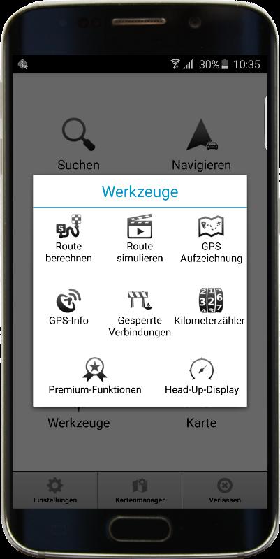 Werkzeuge - Navigator 2.1 mit Head-up Display Funktion