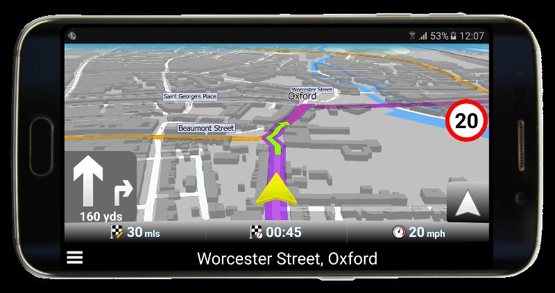 Gelber Navigationspfeil in Navigator 2.2