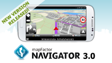 MapFactor Navigator 3.0 - new Android version released